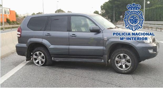 Imagen de un vehículo intervenido por la Policía.