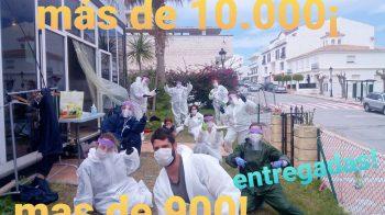 Superadas las 10.000 mascarillas y las 900 pantallas en Manilva
