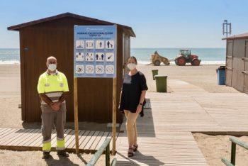 Las playas de Estepona, a punto para su apertura este lunes