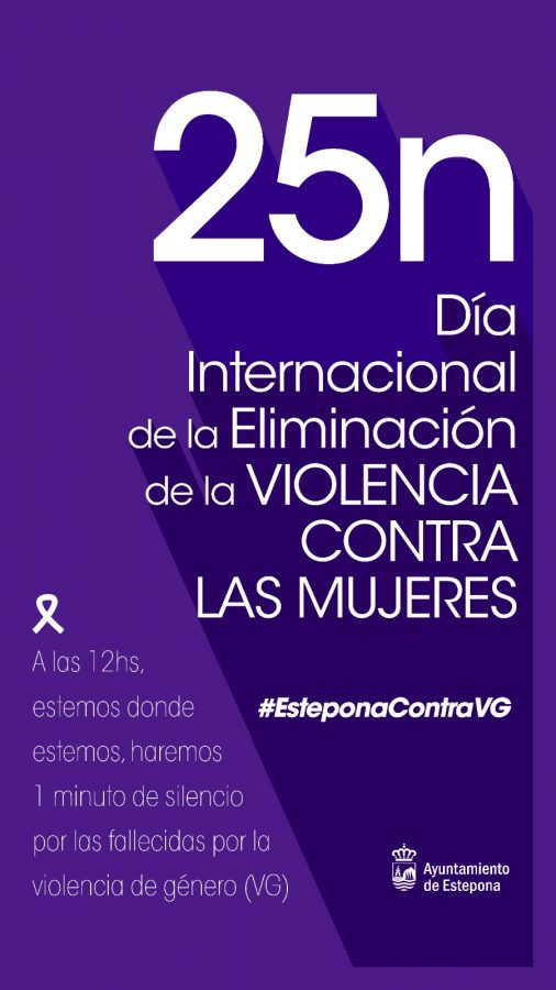Imagen institucional del Ayuntamiento de Estepona en el 25 de noviembre.