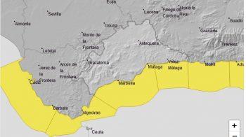 Fin de semana con avisos amarillos por temporal de levante, lluvia y vientos de 60 kilómetros por hora