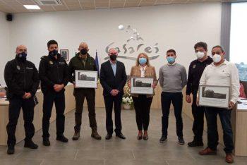 Casares homenajea a los agentes de la Policía Local jubilados este año
