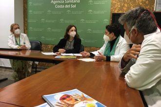 Patricia Navarro en el Hospital Costa del Sol.