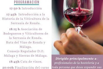 Estepona acoge una jornada formativa sobre los vinos de la Serranía de Ronda