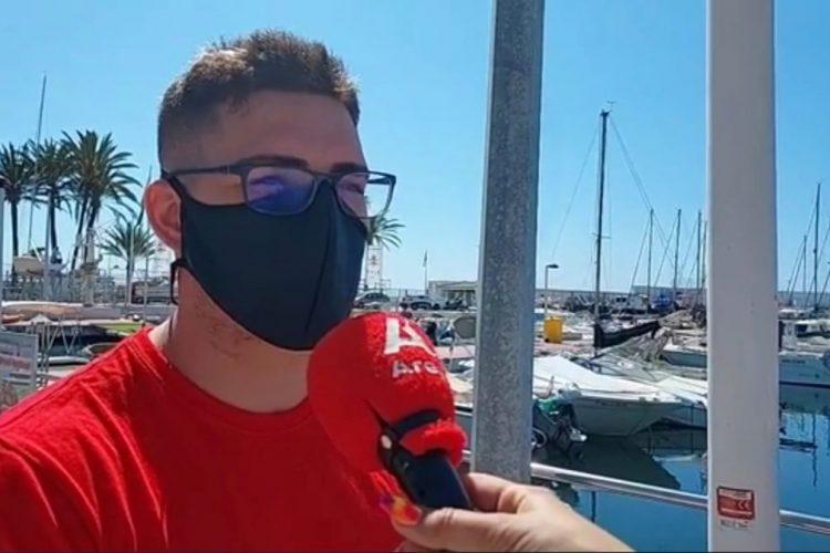Entrevista a Alejandro Luque, el joven que rescató al chico que tiraron al agua en el Puerto Deportivo de Marbella.