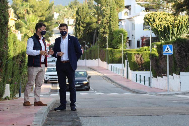 Diego López y Cristóbal Garre, en Nueva Andalucía.