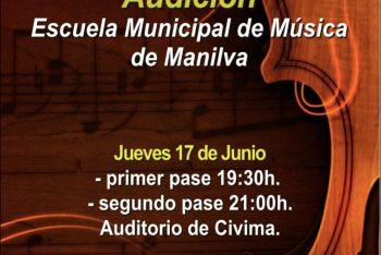 Las audiciones de Fin de Curso de la Escuela de Música Manilva se celebran este jueves