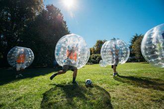 "Bubble Football, ""Fútbol Burbuja"". Archivo"