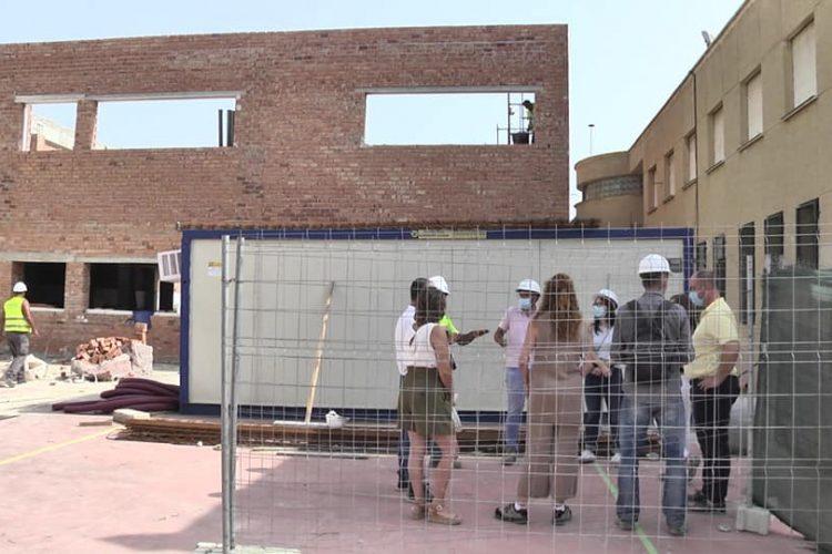 Visita a las obras de la ampliación del Colegio de Sabinillas.