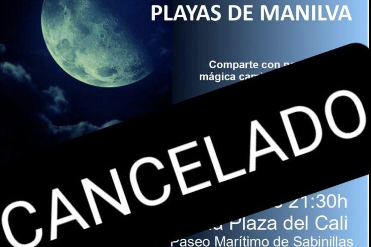 Cancelado el VIII Sendero Nocturno Playas de Manilva.