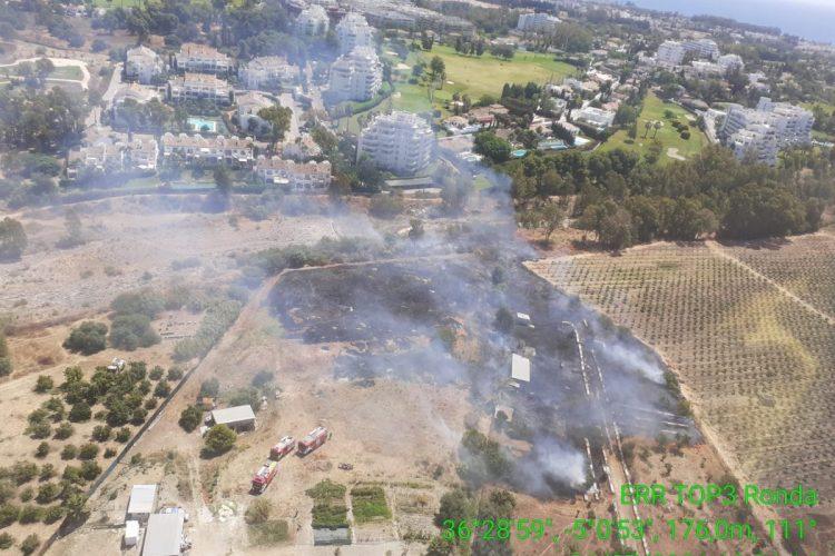 Declarado un incendio en Benahavís