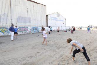 Deportes en la playa en Marbella.
