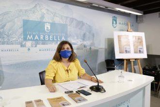Carmen Díaz, en la presentación de la Feria del Libro en Marbella.