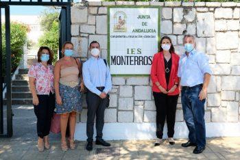 La delegada provincial de Educación visita las obras de ampliación del IES Monterroso, en Estepona
