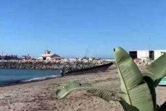 Desembarco de alijos en la playa de Cabopino Marbella