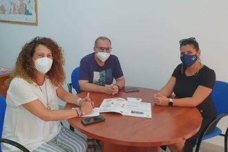 Laura López, Juan Emilio Ríos y María Tomé, Manilva
