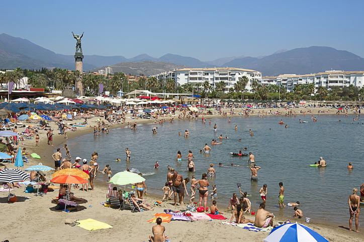Playa de Puerto Banús, en Marbella.